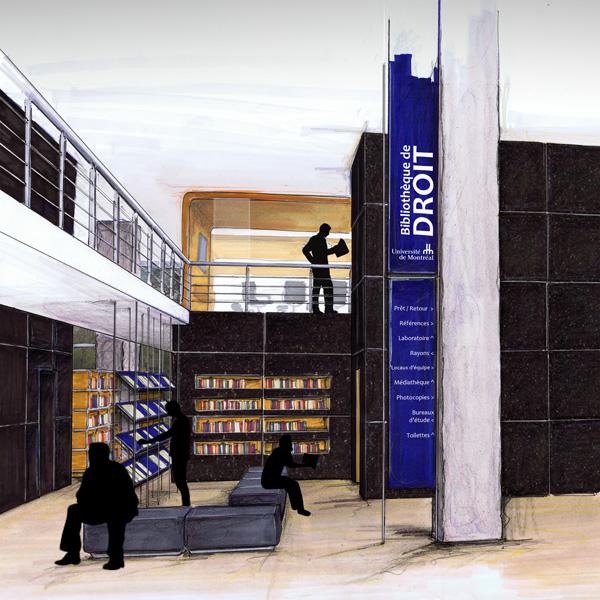 Jurisprudence le r am nagement de la biblioth que de for Design interieur universite